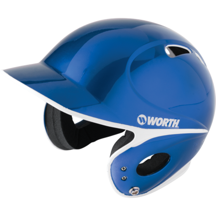 WORTH LPBHT Toxic Low Profile Baseball Batting Helmet- Blue